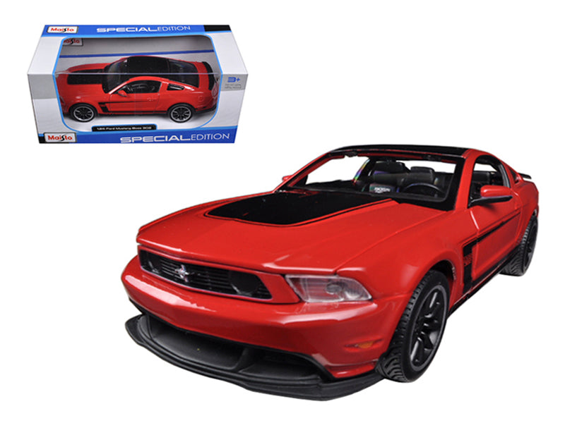 2011 Ford Mustang Boss 302 Red 1/24 Diecast Car Model by Maisto - BeTovi&co