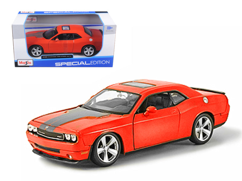 2008 Dodge Challenger SRT8 Orange 1/24 Diecast Model Car by Maisto - BeTovi&co