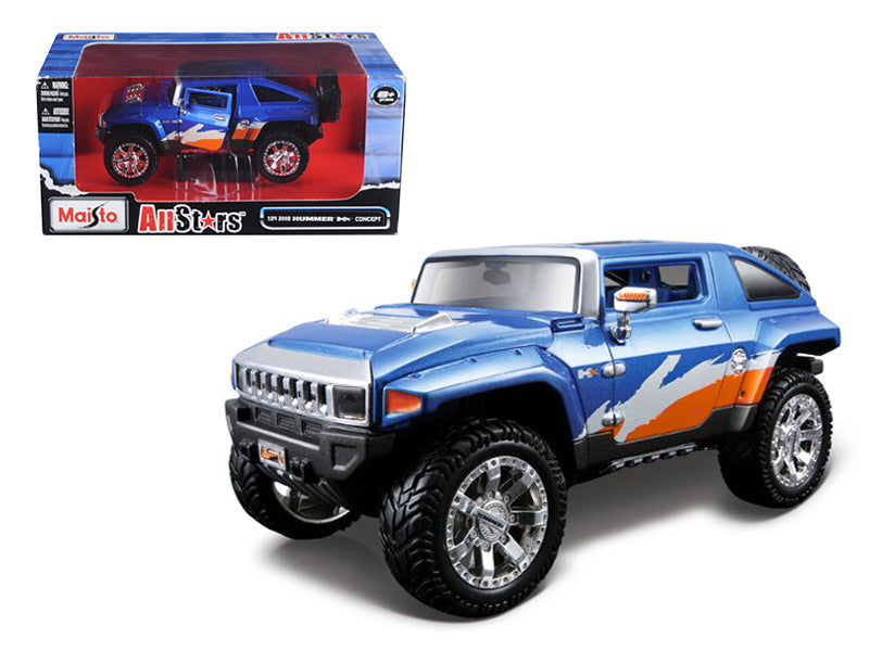 "2008 Hummer HX Concept Blue/Orange/White \All Stars""1/24 Diecast Model Car by Maisto"" - BeTovi&co"