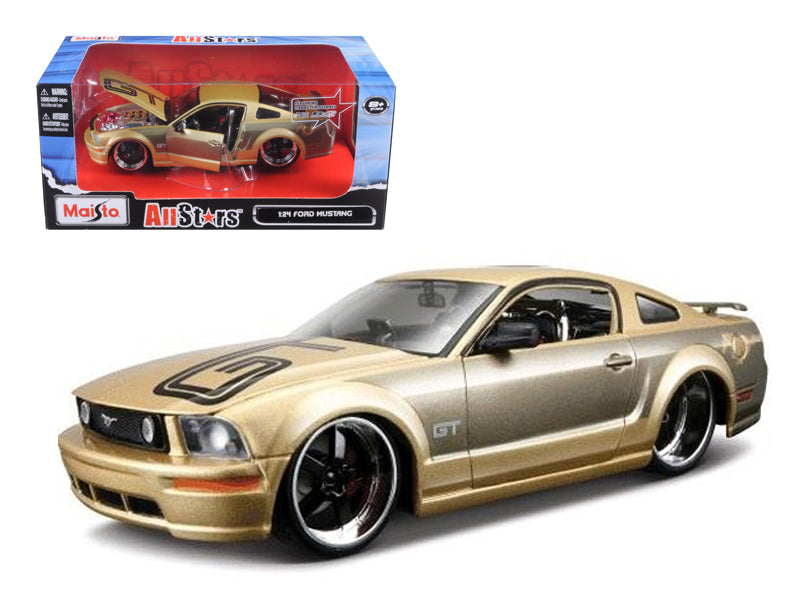 2006 Ford Mustang GT Gold Custom 1/24 Diecast Model Car by Maisto - BeTovi&co