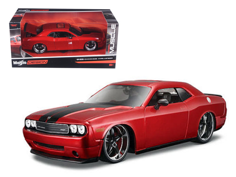 "2008 Dodge Challenger SRT8 Red \Classic Muscle"" 1/24 Diecast Model Car by Maisto"" - BeTovi&co"