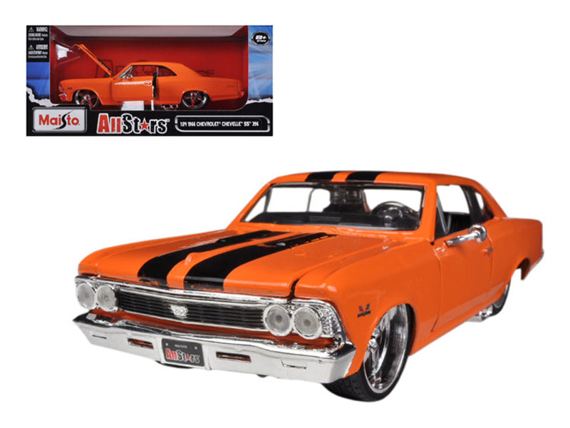 "1966 Chevrolet Chevelle SS 396 Orange \All Stars"" 1/24 Diecast Model Car by Maisto"" - BeTovi&co"
