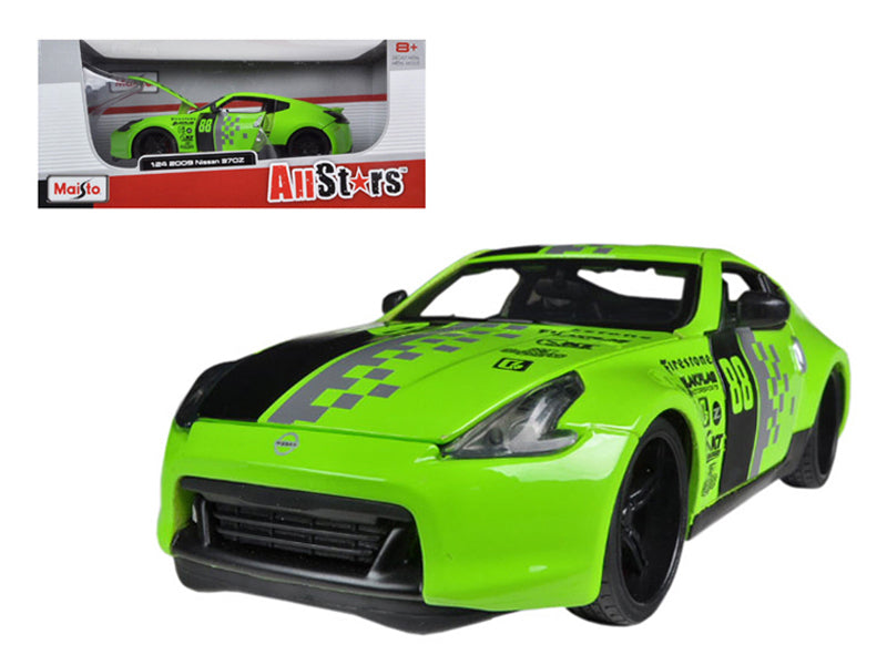 2009 Nissan 370Z #88 Green 1/24 Diecast Model Car by Maisto - BeTovi&co