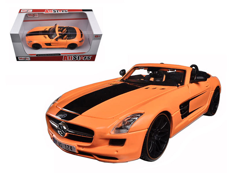 Mercedes SLS AMG Roadster Orange Custom 1/24 Diecast Model Car by Maisto - BeTovi&co