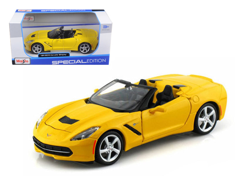 2014 Chevrolet Corvette C7 Convertible Yellow 1/24 Diecast Model Car by Maisto