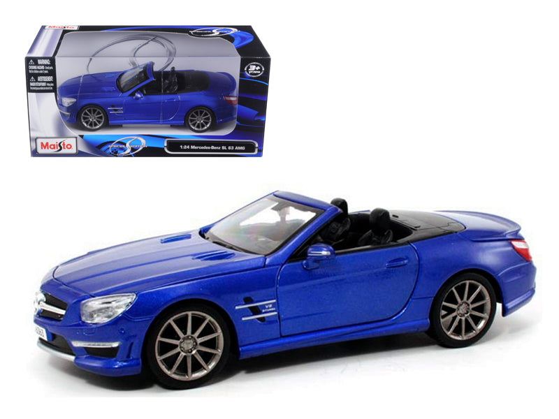 Mercedes SL 63 AMG Convertible Blue 1/24 Diecast Model Car by Maisto - BeTovi&co