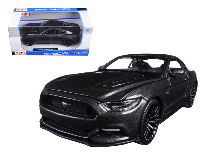 2015 Ford Mustang GT 5.0 Grey 1/24 Diecast Model Car by Maisto - BeTovi&co