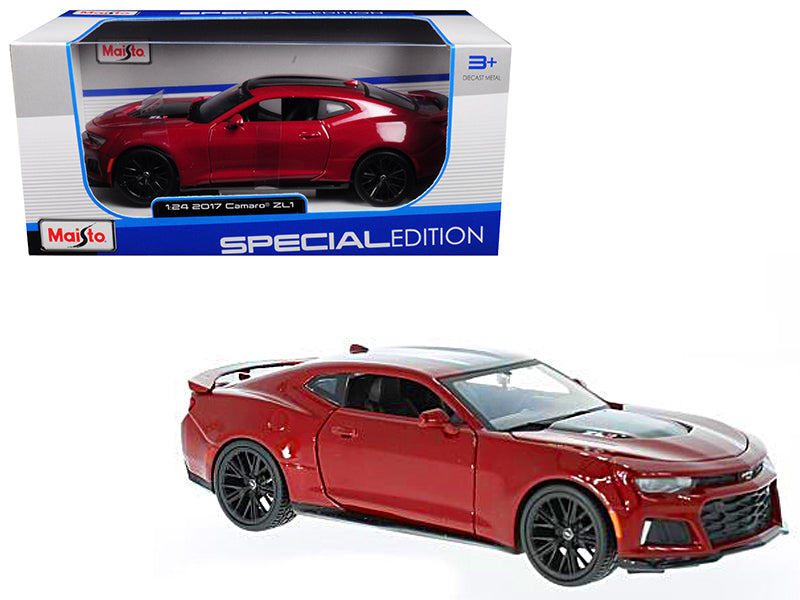 2017 Chevrolet Camaro ZL1 Burgundy 1/24 Diecast Model Car by Maisto