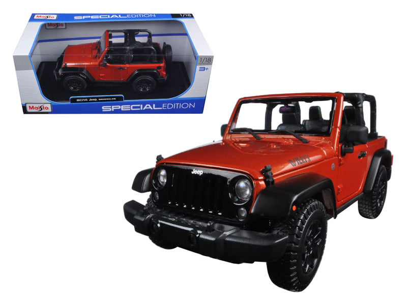 2014 Jeep Wrangler Willys Copper 1/18 Diecast Model Car by Maisto - BeTovi&co