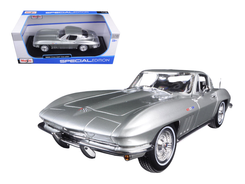 1965 Chevrolet Corvette Silver 1/18 Diecast Model Car by Maisto - BeTovi&co