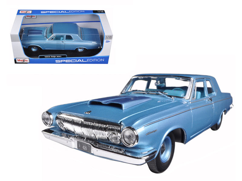1963 Dodge 330 Blue 1/18 Diecast Model Car by Maisto - BeTovi&co