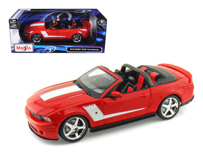 2010 Ford Mustang Convertible 427R Roush Edition Red 1/18 Diecast Model Car by Maisto - BeTovi&co