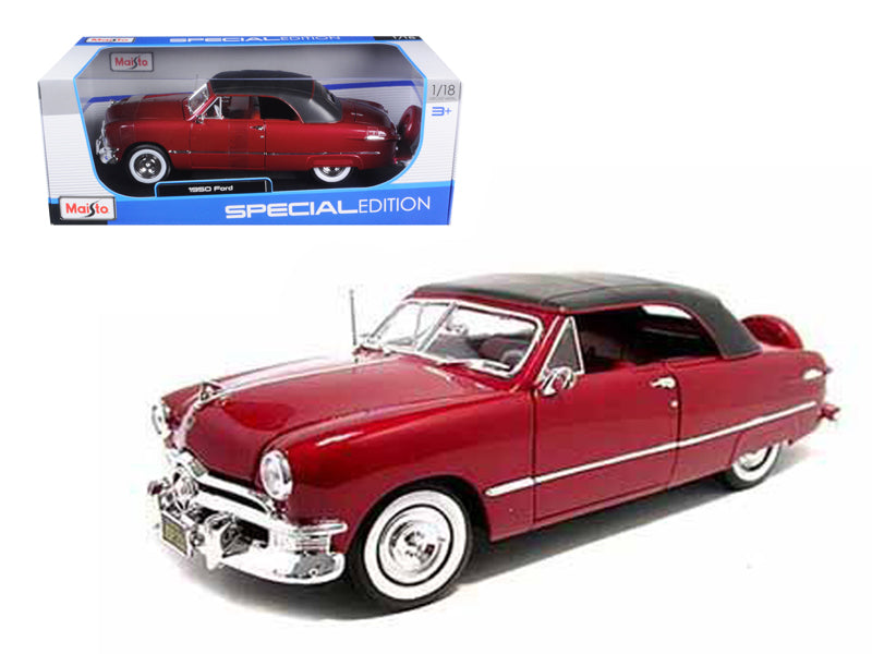 1950 Ford Soft Top Red 1/18 Diecast Model Car by Maisto - BeTovi&co
