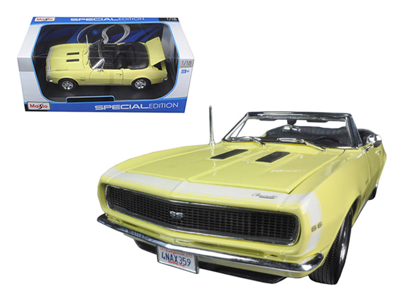 1967 Chevrolet Camaro SS 396 Convertible Yellow 1/18 Diecast Model Car by Maisto - BeTovi&co