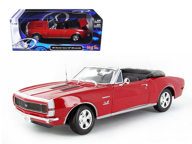 1967 Chevrolet Camaro SS 396 Convertible Red 1/18 Diecast Model Car by Maisto - BeTovi&co
