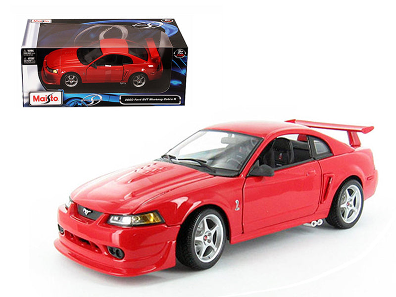 2000 Ford Mustang Cobra R SVT Red 1/18 Diecast Model Car by Maisto - BeTovi&co