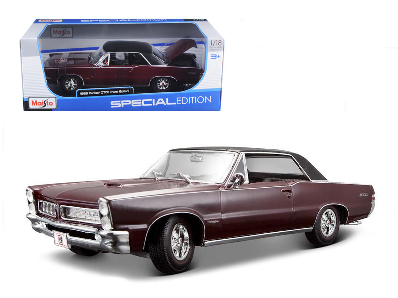 1965 Pontiac GTO Hurst Burgundy 1/18 Diecast Model Car by Maisto - BeTovi&co