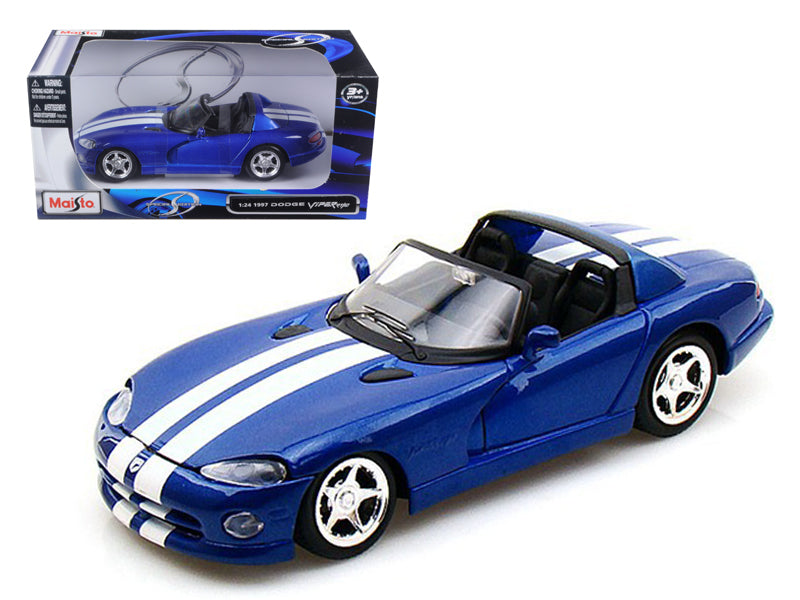 1997 Dodge Viper RT/10 Blue 1/24 Diecast Model Car by Maisto - BeTovi&co