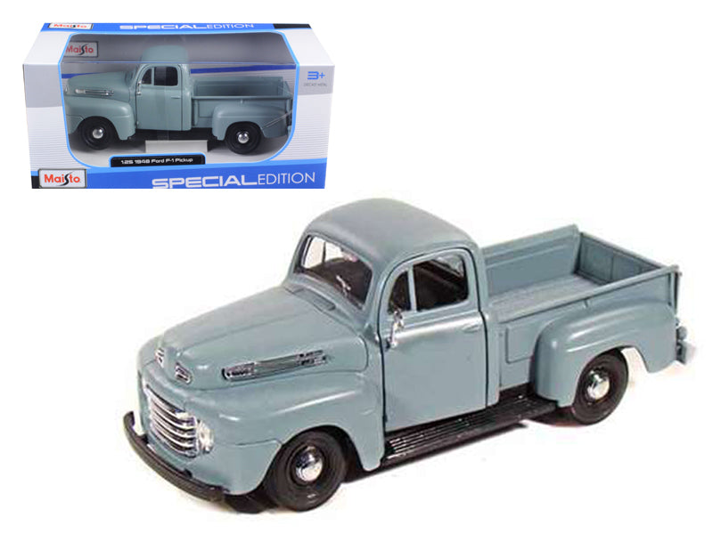 1948 Ford F-1 Pickup Truck Gray 1/25 Diecast Model by Maisto - BeTovi&co