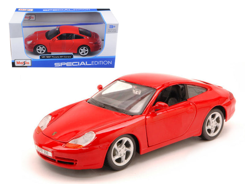 1997 Porsche Carrera 911 Red 1/24 Diecast Model Car by Maisto - BeTovi&co