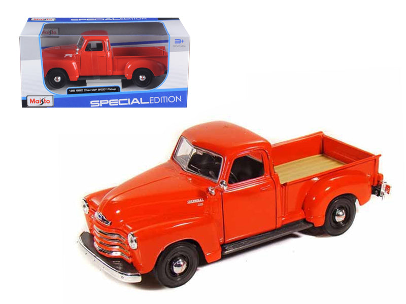 1950 Chevrolet 3100 Pick Up Truck Omaha Orange 1/25 Diecast Model by Maisto - BeTovi&co
