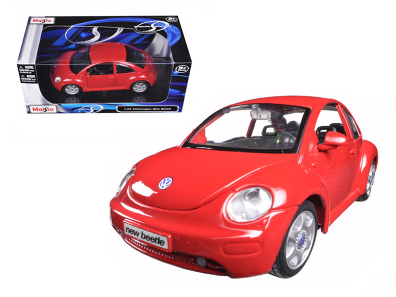 Volkswagen New Beetle Red 1/25 Diecast Model Car By Maisto - BeTovi&co