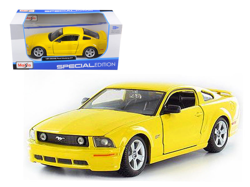 2006 Ford Mustang GT Yellow 1/24 Diecast Model Car by Maisto - BeTovi&co