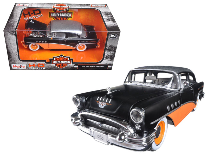 1955 Buick Century Harley Davidson Black / Orange 1/26 Diecast Model Car  by Maisto - BeTovi&co