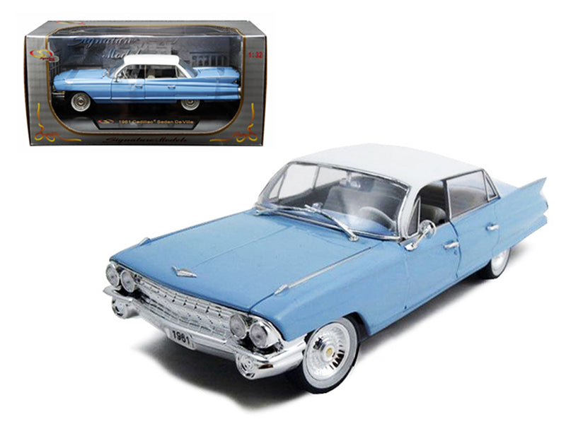 1961 Cadillac Sedan De Ville Eldorado Blue 1/32 Diecast Car Model by Signature Models - BeTovi&co