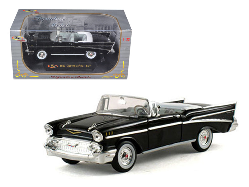 1957 Chevrolet Bel Air Convertible Black 1/32 Diecast Model Car by Signature Models - BeTovi&co