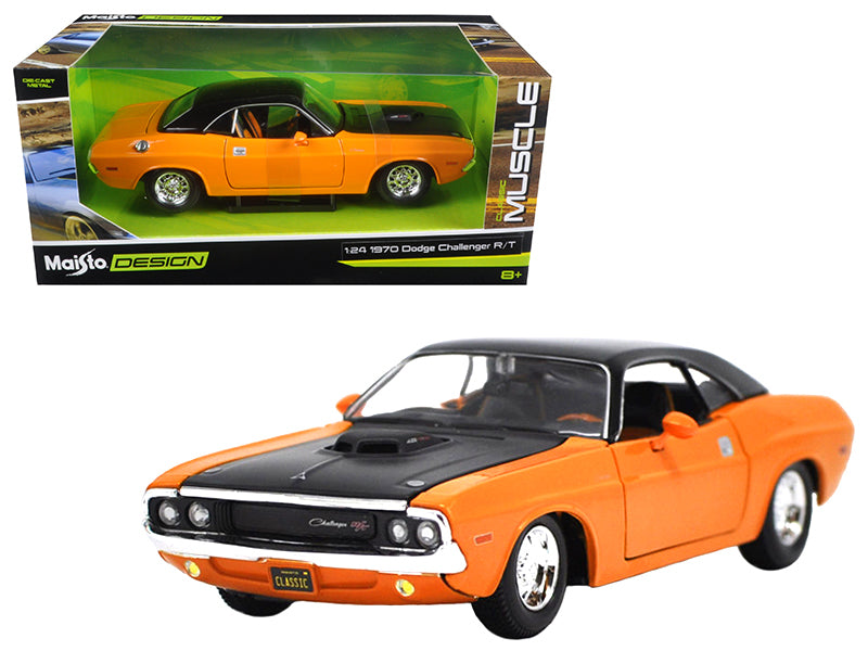 1970 Dodge Challenger R/T Orange 'Classic Muscle' 1/24 Diecast Model Car  by Maisto - BeTovi&co