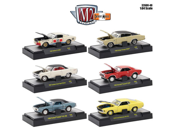 Detroit Muscle 6 Cars Set Release #40