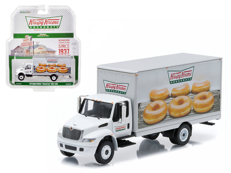 2013 International Durastar Box Van Krispy Kreme Donuts Delivery Truck HD Trucks Series 4 1/64 Diecast Model by Greenlight - BeTovi&co