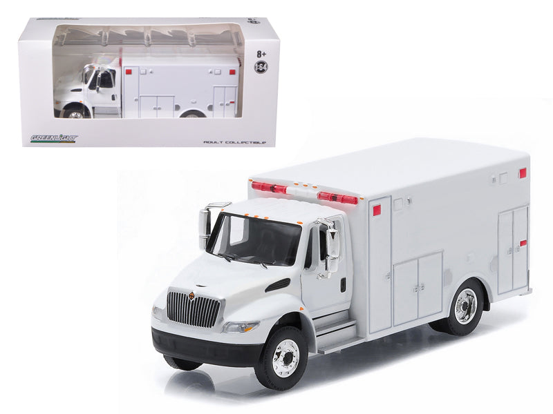 2013 International Durastar Ambulance White Hobby Exclusive 1/64 Diecast Model by Greenlight - BeTovi&co