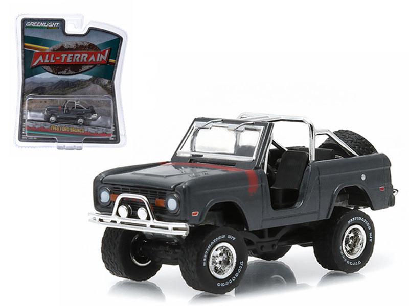 "1968 Ford Bronco Custom Steel Gray \All Terrain"" Series 1 1/64 Diecast Model Car by Greenlight"" - BeTovi&co"