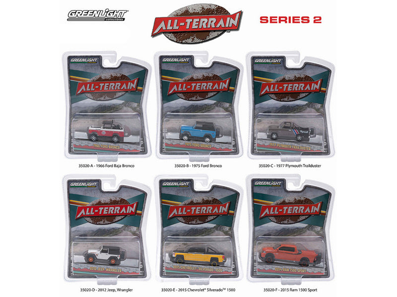 All Terrain Series 2, 6pc Diecast Car Set 1/64 by Greenlight - BeTovi&co