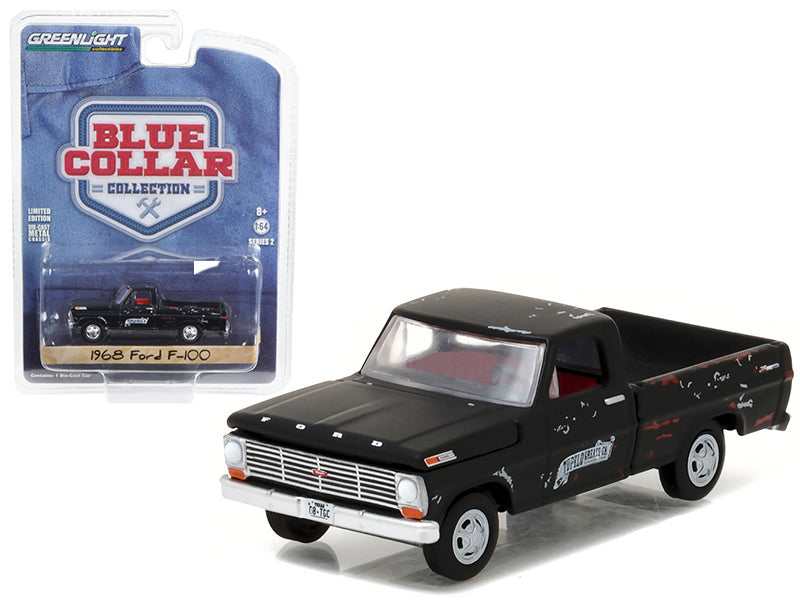 1968 Ford F-100 Pickup Truck Tupelo Grease 1/64 Diecast Model Car by Greenlight - BeTovi&co