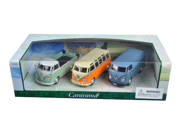 Volkswagen Buses 3pc Gift Set 1/43 Diecast Model Cars by Cararama - BeTovi&co