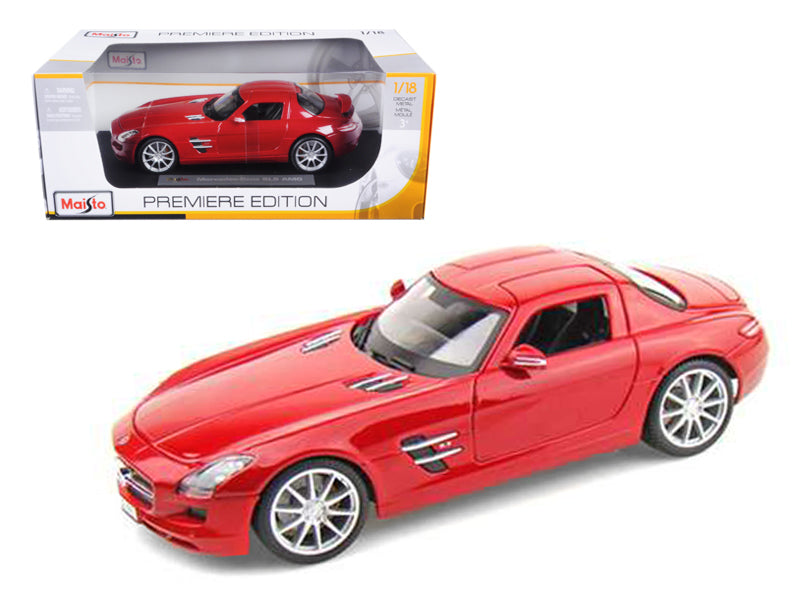 2011 Mercedes SLS AMG Gullwing Red 1/18 Diecast Model Car by Maisto - BeTovi&co