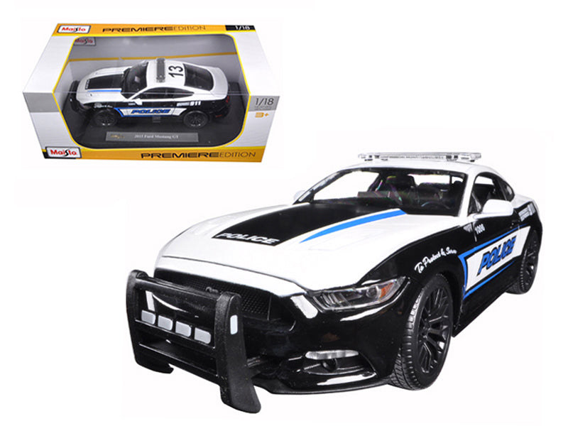 2015 Ford Mustang GT 5.0 Police 1/18 Diecast Model Car by Maisto - BeTovi&co