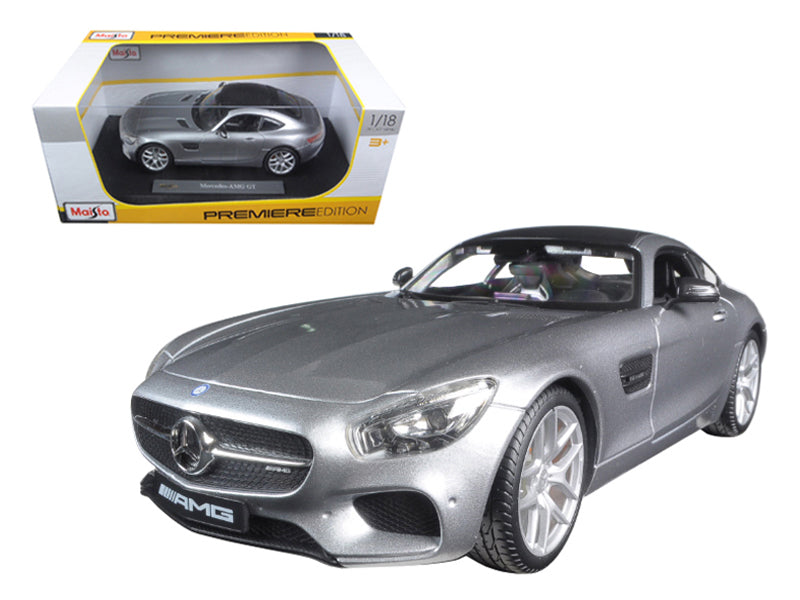 Mercedes AMG GT Silver 1/18 Diecast Model Car by Maisto - BeTovi&co