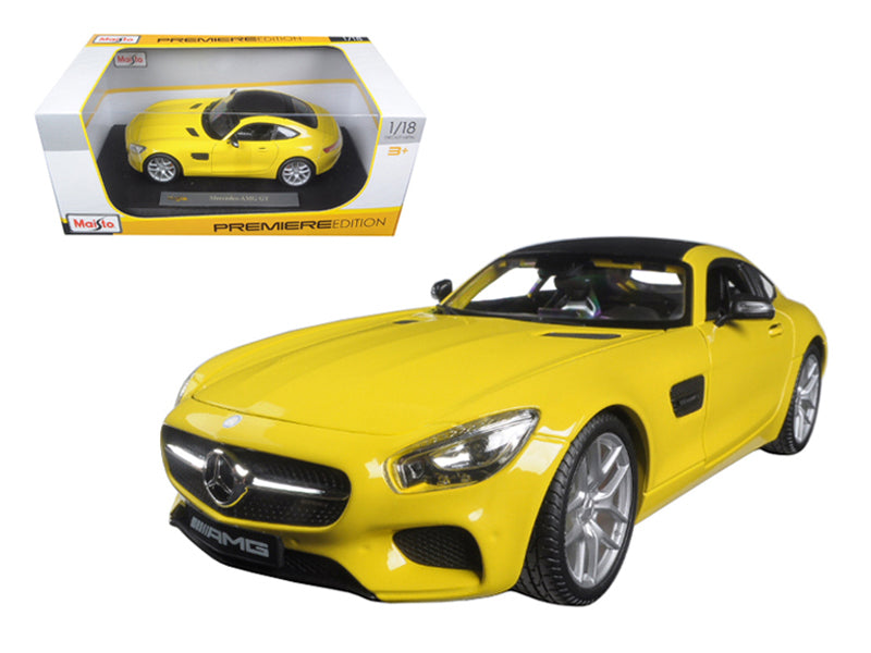 Mercedes AMG GT Yellow 1/18 Diecast Model Car by Maisto - BeTovi&co