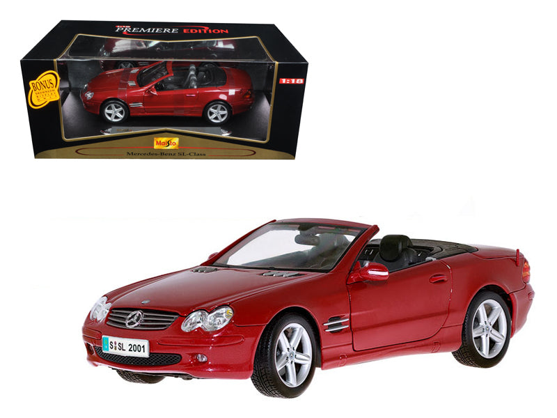 Mercedes Benz SL Class Convertible Dark Red 1/18 Diecast Model Car by Maisto - BeTovi&co
