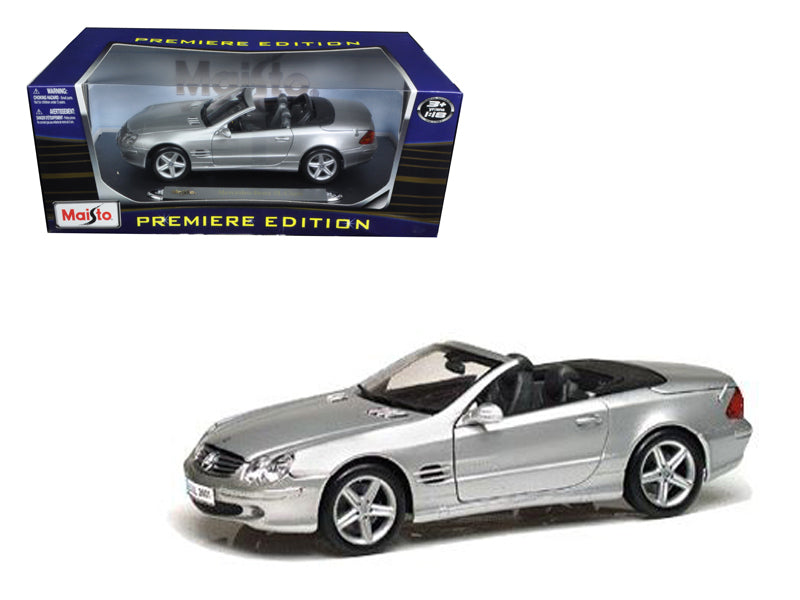 Mercedes SL Class Convertible Silver 1/18 Diecast Car Model by Maisto - BeTovi&co