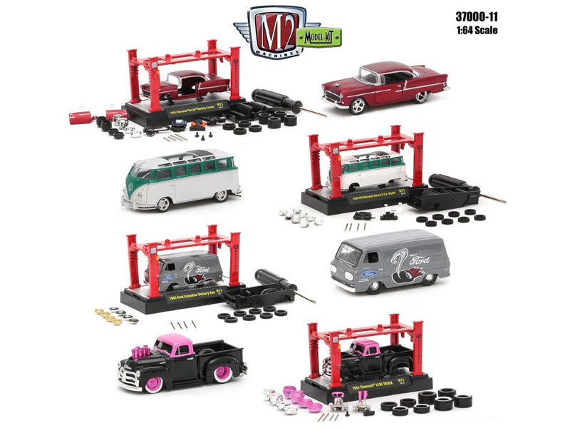 Model Kit 4 Pieces Set Release 11 1/64 Diecast Model Cars by M2 Machines - BeTovi&co