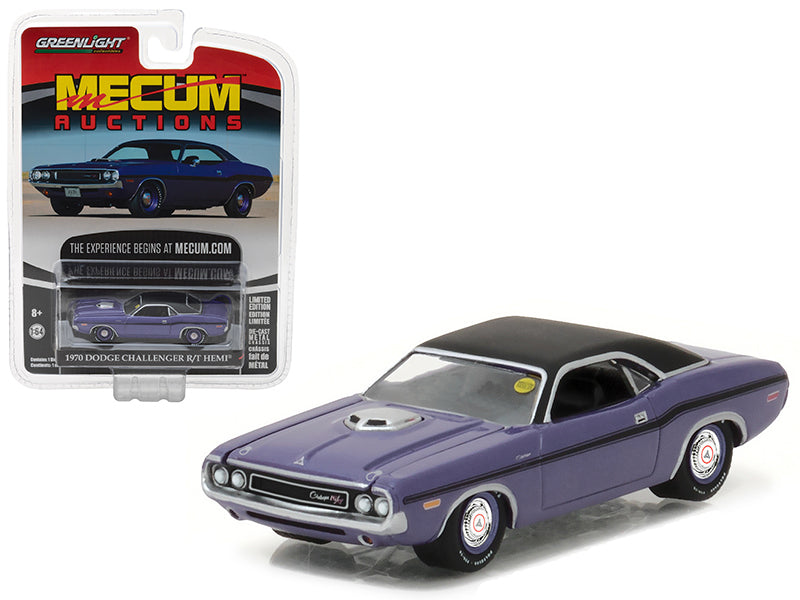 1970 Dodge Challenger R/T HEMI Plum Crazy Purple Mecum Auctions Collector Series 1 1/64 Diecast Model Car by Greenlight - BeTovi&co