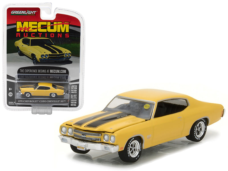 1970 Chevrolet COPO Chevelle SS Daytona Yellow Mecum Auctions Collector Series 1 1/64 Diecast Model Car by Greenlight - BeTovi&co
