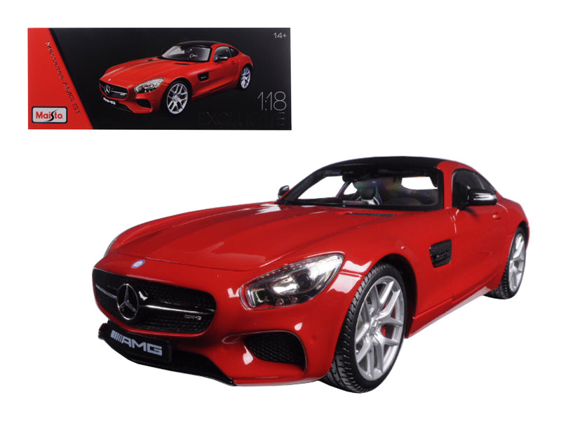 Mercedes AMG GT Red Exclusive Edition 1/18 Diecast Model Car by Maisto - BeTovi&co