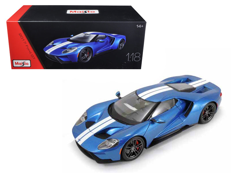 2017 Ford GT Blue Exclusive Edition 1/18 Diecast Model Car by Maisto - BeTovi&co