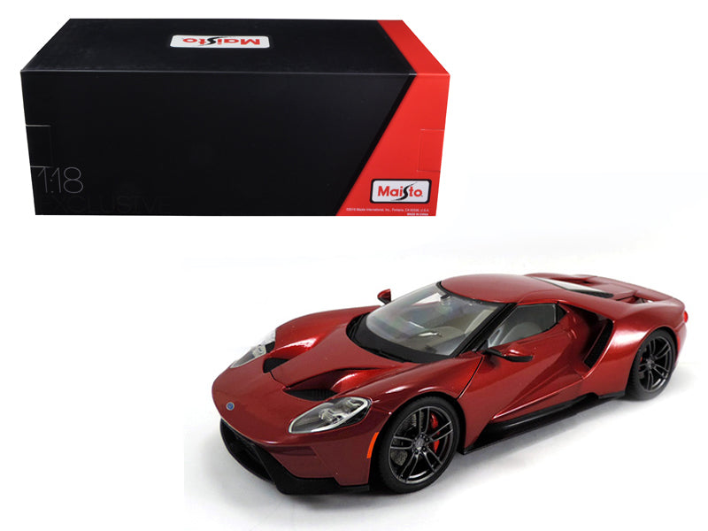 2017 Ford GT Metallic Red Exclusive Edition 1/18 Diecast Model Car by Maisto - BeTovi&co